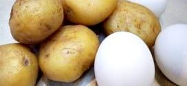 Картофи с яйца