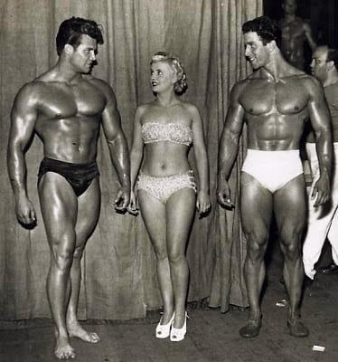 Стив Рийвс и Рег Парк през 50-те
